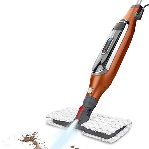 CHENJIA Todos en un Aspirador de Vapor y la fregona del Vapor con la mopa de Microfibra Pad y Fuerte Poder de succión for alfombras, Madera, baldosas de cerámica, Granito y Piso Mable