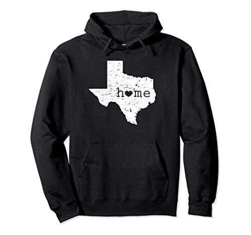 Texan Home Heart Love State of Texas Pullover Hoodie