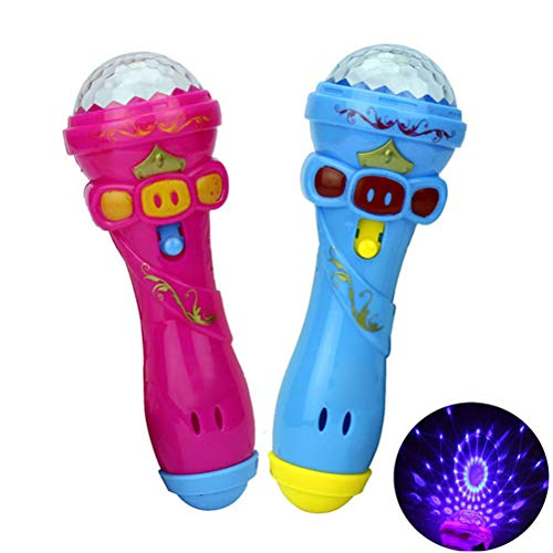 AimdonR Bambini Creative Flash Microfono Modello Wireless Music Karaoke Giocattolo Luminoso