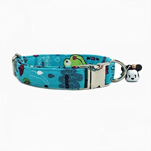 FANJIA Collar De Perro Collar De Perro con Pajarita De Algodón Y Estampado De Rana Verde Collar De Perro Y Gato Y Correa De Perro Mascotas