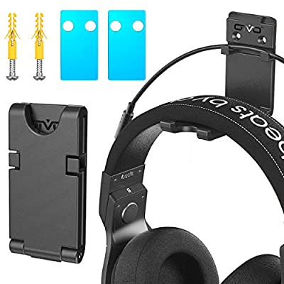 Headphones Holder Hook Wall Mount, OIVO Foldable Headset Hook Hanger Under Desk, Universal Stand for Sony, Gaming Headphones, Earphones, Cables (1 Pack) from OIVO