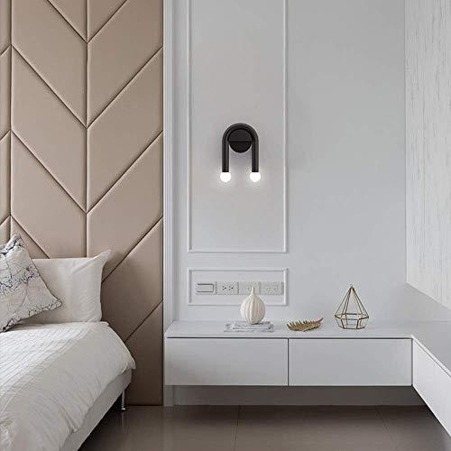 Mkjbd wandlamp tuinlamp wandlamp eenvoudige wandlamp zwart 16 x 23 cm woonkamer gang lampen LED plafondlampen