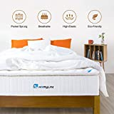 HomyLink Mattress with Pillow Top Pocket Spring Memory Foam Mattresses Single Double 9-Zone Orthopaedic 27cm Height 3FT 4FT6