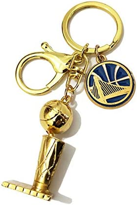 Basketball Mini Trophy Championship Basketball Team Logo Keychain Fans Memorial Small Gifts product image