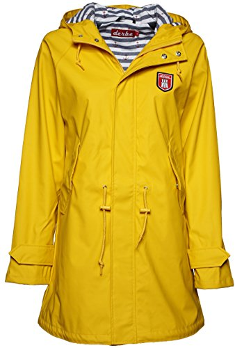 Derbe Travel Friese Striped Damen Regenmantel, yellow/blue striped, Gr. 46