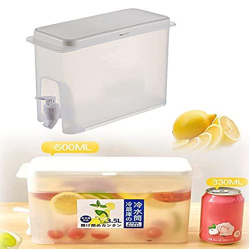 Jarra de agua con grifo de zumo de limón, dispensador de bebidas, nevera de grifo, coctelera, revuelva para hacer su jugo más delicioso (AA)