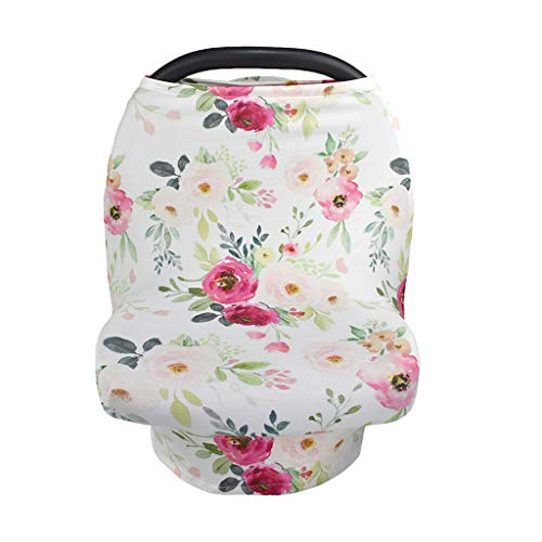 Gwxevce New Mom Nursing Cover Scarf Canopy Nursing Cover Flowel Multifunction Cape Stroller Cover Infant Car Seat Cover C.