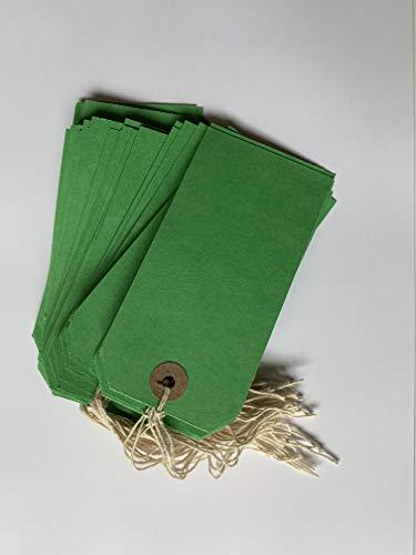 Box of 1000 Green Strung Tags 120mm x 60mm
