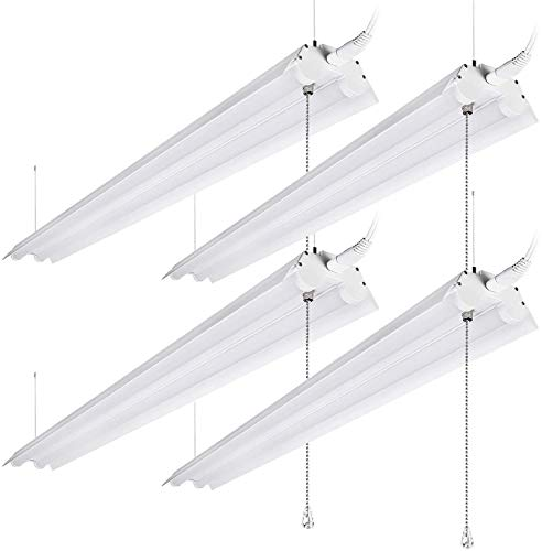 LEONLITE 40W 4ft Linkable LED Utility Shop Light,...