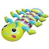 Estrella-L Hamaca de piscina, agua inflable oruga montaje flotante fila para adultos niños asiento de agua de PVC con mango Juguetes de piscina 160 cm Niños Piscina Playa Vacaciones