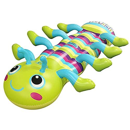 SFWEFWFAFAF Float Mat Water Opblaasbaar Caterpillar Multi-Person Mount Drijvende Rij Kids Opblaasbare Luchtmatras…