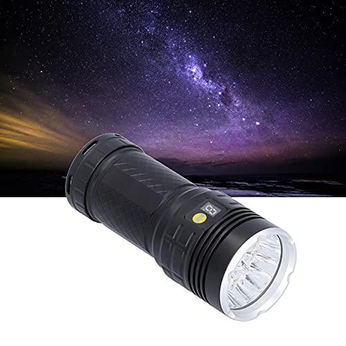 Linterna LED, Aleación de aluminio Portátil para exteriores IP65 Impermeable Modo alto/bajo/intermitente Linterna LED Antorcha para patrulla Montañismo, Camping, Senderismo, Caza