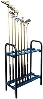 Crestgolf 18 Holes Golf Club Organizers Golf Club Display Shelf Gole Driver Rack Blue, Metal