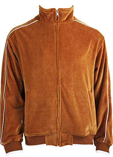 White Jackets Mens With Orange Accent