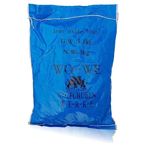 Eisenoxid Pulver Pigmentpulver für Betonfarbe Lehm Keramik W120 Blau - 5KG