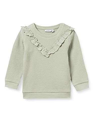 NAME IT Baby-Mädchen NBFHANEEN LS Sweat Sweatshirt, Desert Sage, 68