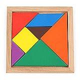 3 Piezas de Madera Tangram 7 Piezas Rompecabezas Colorido Cuadrado Iq Juego Rompecabezas Juguetes educativos Inteligentes para niños