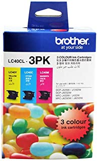 Brother LC-40 Colour Value Pack, 1X Cyan 1X Megenta 1X Yellow