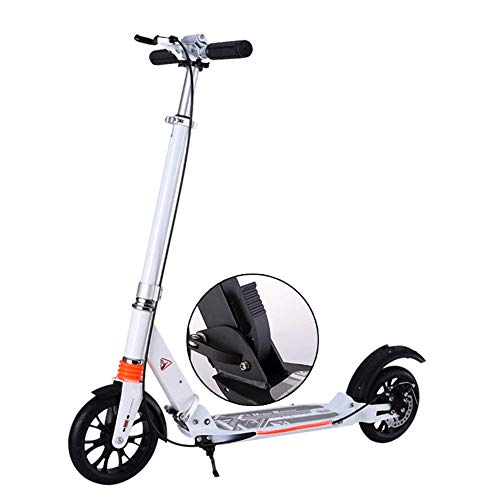 Find Discount YYIN Adjustable Height Scooter Two-Wheeled Folding Double Shock Absorption Aluminum Al...