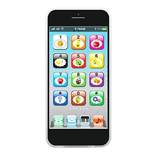 BSOA Juguete para teléfono para bebés Juguete móvil Interactivo para niños, Jugar para Aprender, Pantalla táctil con 8 Funciones, Luces de Flash LED, Juguete de Aprendizaje temprano