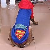 ACDGS Perro Grande, Perro, suéter de Lana, Lana Dorada, Husky, Labrador, Ropa for Perros Grandes (Color : Cap Superman Blue, Size : 7XL)
