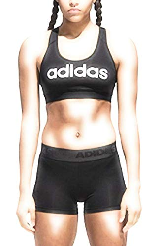 adidas Women's Logo Climacool Workout Sports Bra, Black, Large