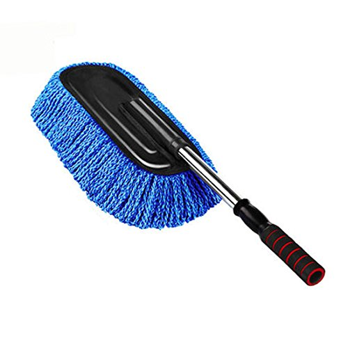 PeleusTech Car Duster, Microfiber Telescoping Wax Mop Car Dust Duster Vehicle Home Wash Cleaning Tool - Blue