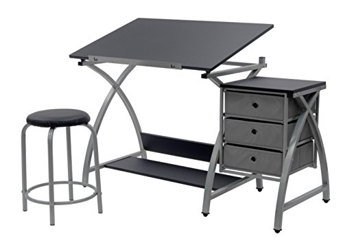 SD Studio Designs Studio Designs 2 Piece Comet Art, Hobby, Drawing, Drafting, Craft Table with 36'W...