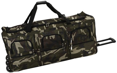 Rockland Rolling Duffel Bag, Camouflage, 40-Inch