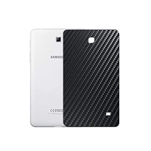 VacFun 2 Piezas Protector de pantalla Posterior, compatible con SAMSUNG Galaxy Tab 4 8.0 3G SM-T331 T330 T335, Película de Trasera de Fibra de carbono negra Skin Piel