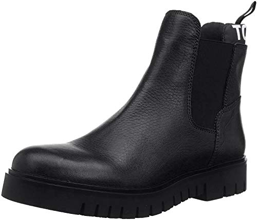 Tommy Hilfiger Damen Padded Tongue Chelsea Boot Stiefeletten, Schwarz (Black 990), 38 EU