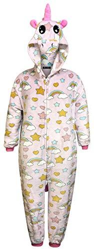 Niños Unicornio Onesie Pijamas cómodos para niñas Traje de Dormir Suave Regalos para niños Disfraz de Mono Animal