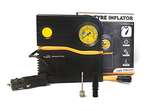 Grand Pitstop Electric Tyre Inflator Air Compressor Pump for Car and Motorcycle