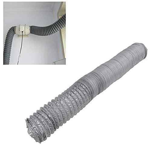 BOTEGRA Manguera Reductora de Ruido, conducto de Aire de Papel de Aluminio de flexión Libre, película de PVC de 10 m / 32,8 pies para Campanas extractoras para Ventiladores