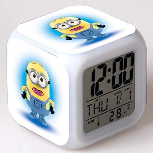 JXAA Reloj Despertador de Dibujos Animados Juguete para niños Reloj LED Reloj Despertador Reloj Despertador Digital luz de Despertador electrónico Reloj Despertador Despertador