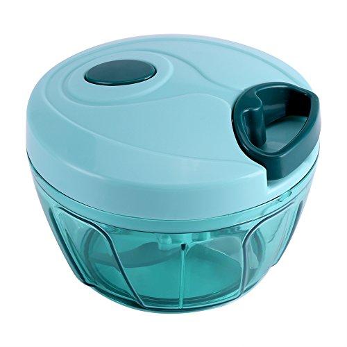 ROSEBEAR Kruiden & Kruidenhakselaars Handmatige Keuken Keukenmachine Hakmolen Compact en Krachtig Hand-Aangedreven Ui Knoflook Gember Peper Gesneden Stamper