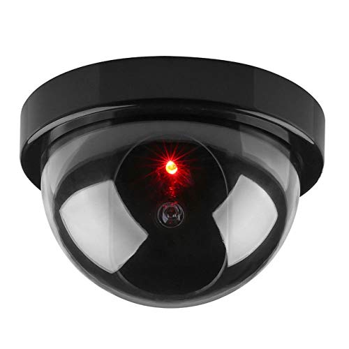 Ba30DEllylelly Cámara de Seguridad Falsa Falsa inalámbrica, Domo de CCTV de vigilancia del hogar, cámara de simulación de hemisferio Falso para Interiores y Exteriores