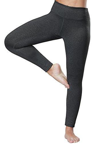 Wingslove Women's Yoga Pants Flex Running Yoga Leggings Tummy Control Mid Waist?L,Charcoal?