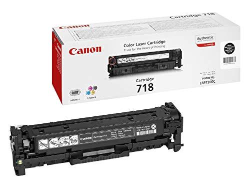 Canon 718 Bk original Toner Schwarz für ISensys Laserdrucker (Generalüberholt)