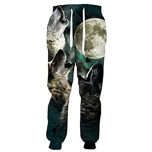 Animal Wolf Pantalones Hombres Mujeres Popular Streetwear Pantalones Harajuku Casual Pant