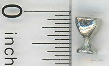 Dollhouse Miniature 1:24 Scale Polished White Metal Goblet