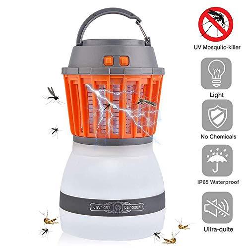 Mosquito Killer Lampe, Solar Camping Laterne USB elektronische wasserdichte LED-Beleuchtung Moskito Killer Zelt Licht, für Schlafzimmer Garten Outdoor Camping