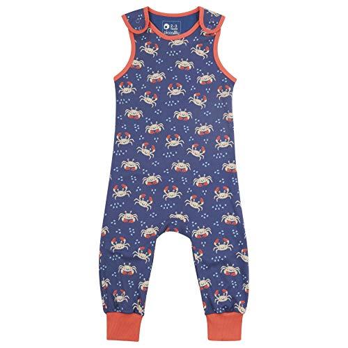 Piccalilly Latzhose aus weichem Jersey für Baby + Kleinkind, Bio-Baumwolle, Blau Ocean Crab Gr. 18-24 Monate, violett