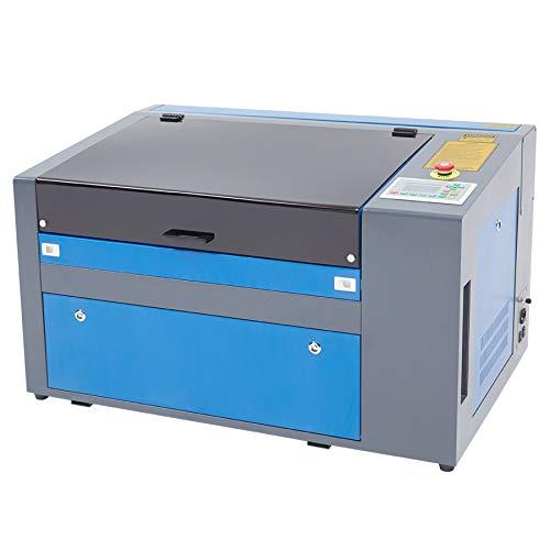 Orion Motor Tech 50W Macchina per Incisione Laser CO2 Incisore Stampante Laser Engraver Regolabile con Port USB Universale Display LCD Punto Rosso 300 X 500MM (50W con RDWorks Software)