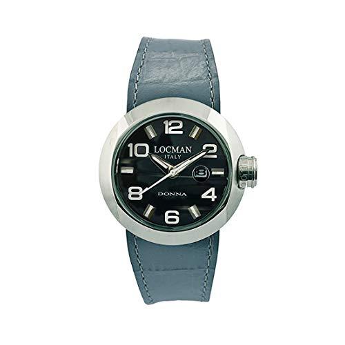 Locman Italy Change - Reloj de Pulsera para Mujer, Color Gris 0421.