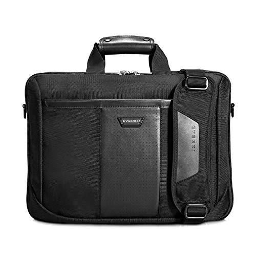 Everki Versa – Premium Laptoptasche für Notebooks bis 16 Zoll (40,6 cm) mit patentiertem Ecken–Schutz–System, durchdachtem Fächer-Konzept und weiteren hochwertigen Funktionen, Schwarz