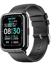 """Smartwatch Orologio Fitness Tracker Uomo Donna, Tanzato 1.69"""" Full Touch Bluetooth Smart Watch con Cardiofrequenzimetro da Polso Contapassi, Notifiche Messaggi, Orologio Sportivo Impermeabile IP68"""