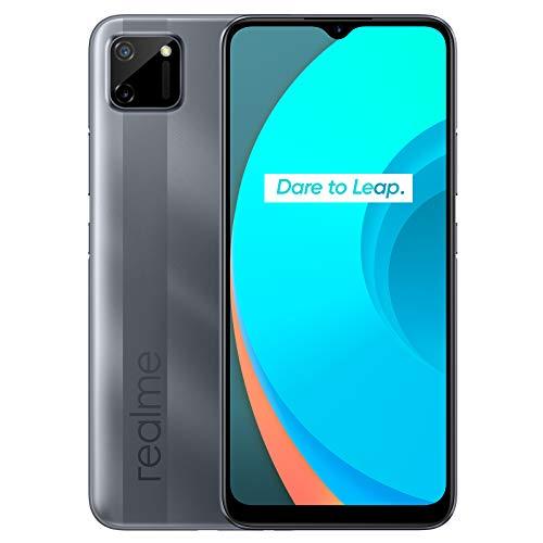 realme C11 - Smartphone de 6.52', 2 GB de RAM + 32 GB de ROM, Procesador Gaming MediaTek Helio G35, Doble cámara de 15MP, Dual Sim, Pepper Grey