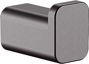 hansgrohe 41742340 AddStoris Single Robe Hook, Brushed Black Chrome