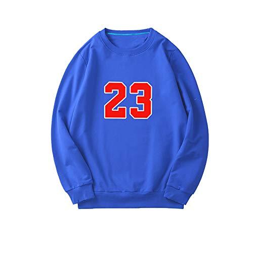 Michael Jordan Jersey Chicago Bulls # 23 Jersey Pullover Lose Basketball Sweatshirt T-Shirt Hoodie Basketball Trainingsanzug Fitness Kleidung Jacke Schwarz-Blue-L